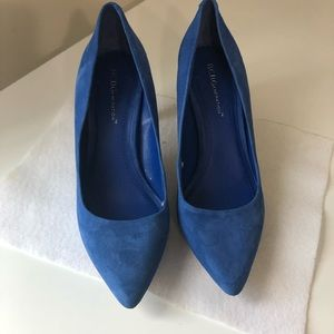 BCBGeneration blue heels 6.5 Slip On Heels